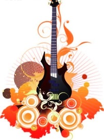 音乐动感矢量素材