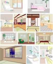 室内设计矢量图
