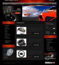 国外汽车网页FLASH模版一套