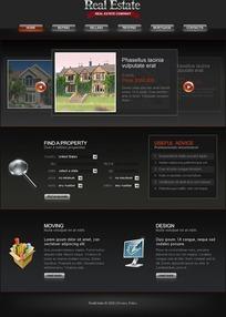 欧式flash网站模板(内含FLA源文件+PSD+CSS+XHTML代码+字体)