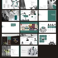 公司企业文化画册模板  CDR
