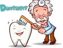 可爱卡通牙医
