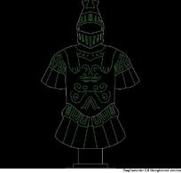古代战袍的CAD图