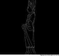 人物侧面CAD图