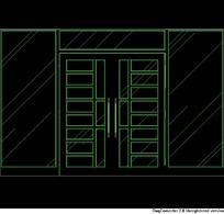 双开玻璃门的CAD设计图