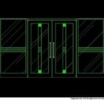 双开玻璃门的CAD图