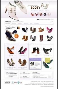 简洁的韩国高跟鞋网页 -039