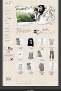 简洁的韩国休闲服装网页-013