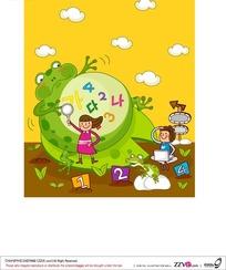 儿童和青蛙ai
