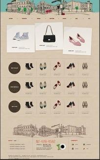 简洁的韩国女士鞋包网上商城-098