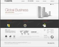 简洁的韩国全球商务网页设计 -164