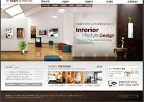 简洁的韩国室内设计网页素材-021