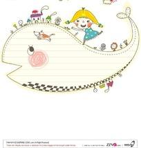 卡通儿童插画矢量图