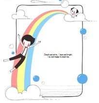 矢量儿童画卡通画之彩虹
