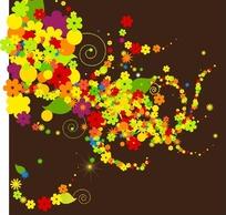 矢量五彩缤纷的花朵