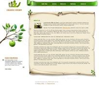 简洁环保纸张风格欧美网页模板psd原码
