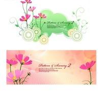 温馨的花纹背景