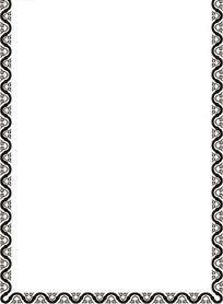 传统纹样边框矢量图