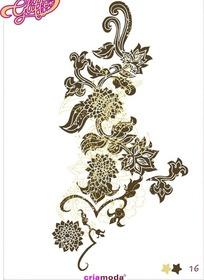菊花标签图案