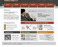 欧美简洁网页模板