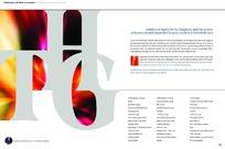 英文字母画册内页版式设计