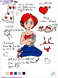 抱着小猫的红头发女孩