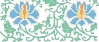 传统二方连续花纹设计矢量素材