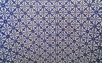 传统对称青花底纹
