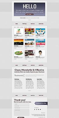 网页界面布局设计图片