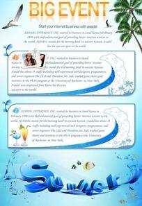 summer夏日海洋宣传海报