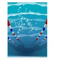 水下游泳池矢量素材