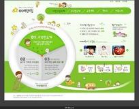 卡通背景网站模板