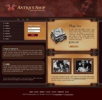 古老怀旧网站模板