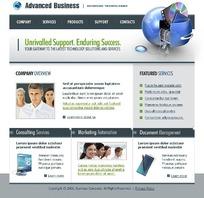 欧美商务客服网页模板