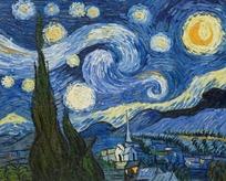 油画—梵高油画作品《星空》图片