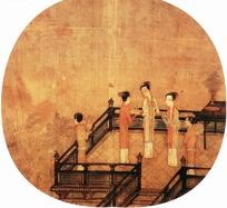 中国古典画作-高台上的仕女