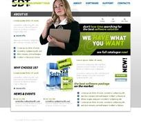 欧美软件网页模板原码