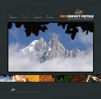 自然摄影网站模板