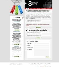 简洁风格网页模板
