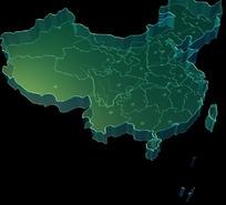 中国地�_绿色立体完整版中国地图