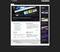 文本排版印刷网页模板