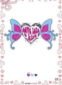 宝贝公主蝴蝶花纹图案