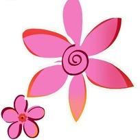 粉红色图案花