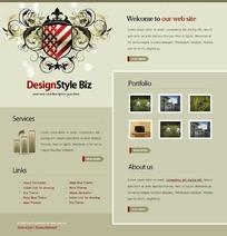 欧美商务广告网页设计模板