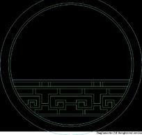 中式窗CAD图