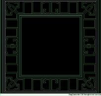 中式窗CAD图素材