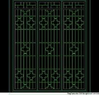 中式窗格CAD图块