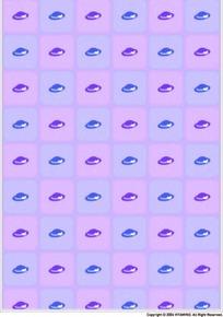 蓝色和紫色帽子构成的图案