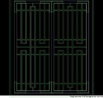 流线型中式窗CAD