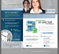 欧美软件销售网站设计模版